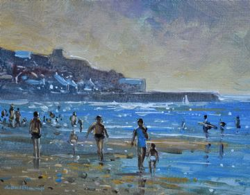 Richard Blowey Original Oil Painting Sennen Cove Beach
